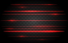 Red Laser Lights. Vector Brigh...