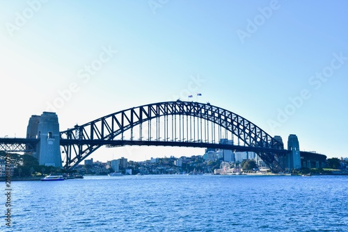 View of Sydney Harbour Bridge, a Famous Landmark in Downtown Sydney
