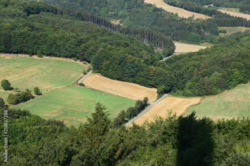 Fotobehang Olijf Eifellandschaft aus der Vogelperspektive, vom Gänsehalsturm