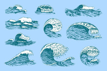 Atlantic Tidal Waves. Vintage ...