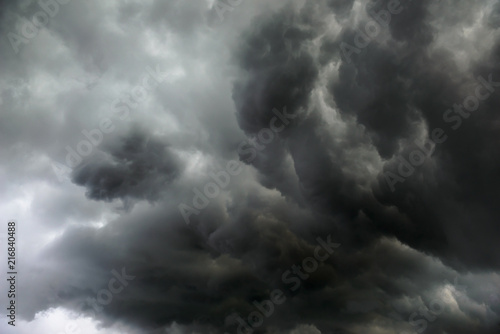 Fototapety, obrazy: Stunning storm clouds sky background wallpaper
