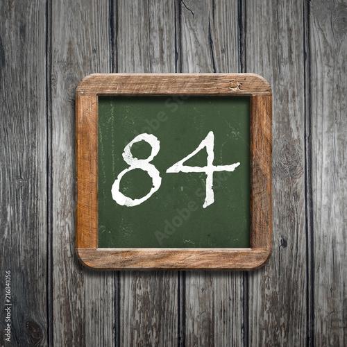 Poster  digit on a green blackboard