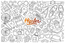 Hand Drawn Hipster Elements An...
