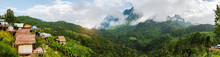 Natural Panorama Of Doi Luang Mountain In Chiang Dao Province It Is The Highest Mountain In Thailand, Good Weather, Winter Season