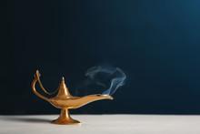 Aladdin Lamp Of Wishes On Tabl...