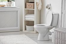 Toilet Bowl In Modern Bathroom...