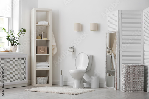 Fotografie, Obraz  Toilet bowl in modern bathroom interior