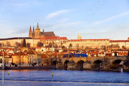 Staande foto Praag Prague St. Vitus Cathedral and Mala Strana, Czech Republic