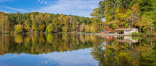 Lake At Umstead State Park In Autumn - North Carolina