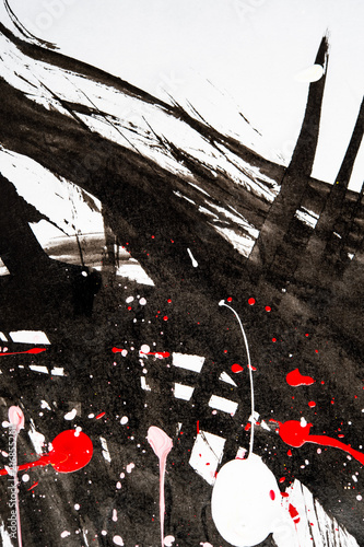 Poster  Japanese calligraphy and water paint on Japanese paper