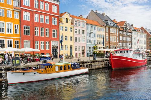 Scenic summer view of Nyhavn pier Poster