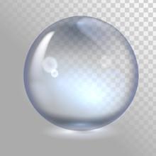 Transparent Glass Sphere, Bubb...