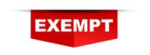 Red Vector Banner Exempt