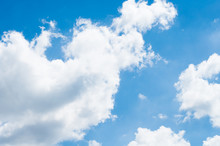 Blue Sky Background With Clouds.Blue Sky With Clouds Closeup.