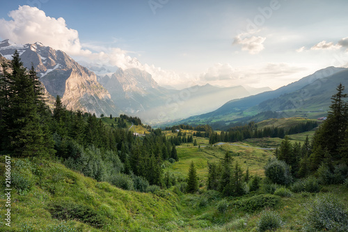 Tuinposter Alpen Grindelwald First – Top of Adventure