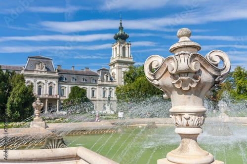 Photo  Famous castle in a Hungarian town Keszthely, Castle Festetics