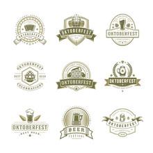 Oktoberfest Labels, Badges And...