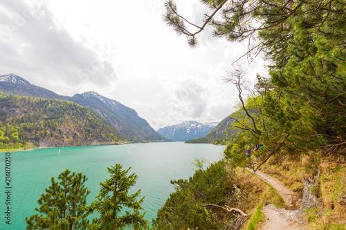 Fotobehang Meer / Vijver blue green Lake Achensee, Austria