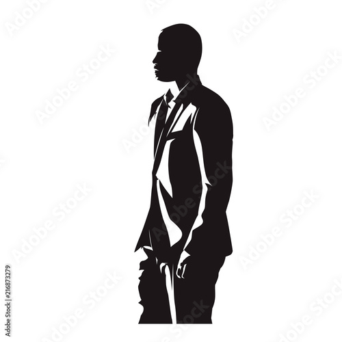 Business Man In Suit Side View Abstract Comics Ink Drawing Isolated Vector Silhouette People Buy This Stock Vector And Explore Similar Vectors At Adobe Stock Adobe Stock
