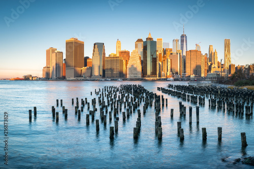 Tuinposter New York City Manhattan Skyline in New York City, USA