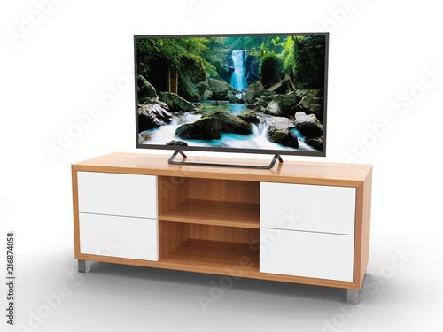 TV cabinet, 3D model  - Buy this stock illustration and explore