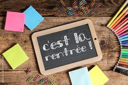 Papiers peints Paris ardoise d'école : c'est la rentrée !