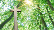Kreuz Steht Im Sonnenlicht