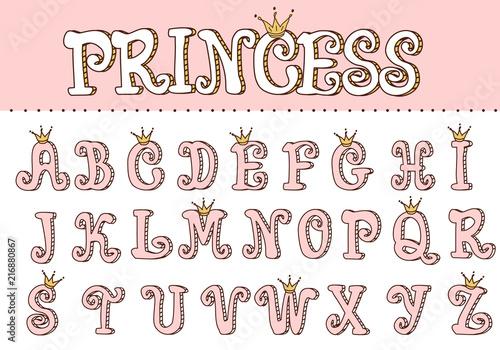 Photo Pink princess cute font