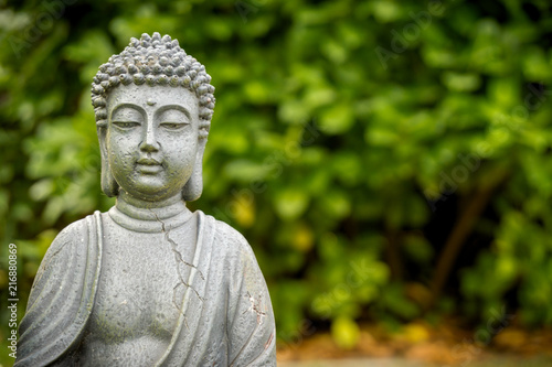 Fotobehang Boeddha peaceful buddha in green garden