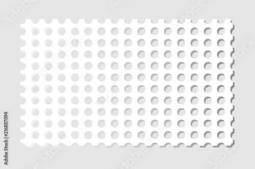 Valokuvatapetti Perforated sheet of paper