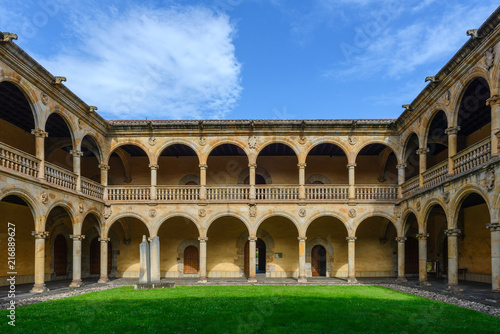 Keuken foto achterwand Historisch geb. Courtyard of the university of the Holy Spirit (Sancti Spiritus), Onati in Guipuzcoa, Spain