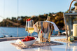 canvas print picture - champagne à bord