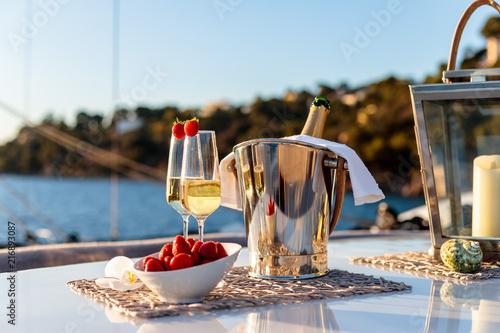 champagne à bord