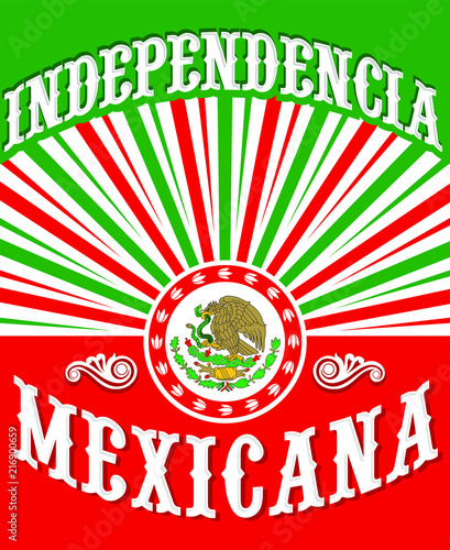 Independencia Mexicana Mexican Independence Spanish Text