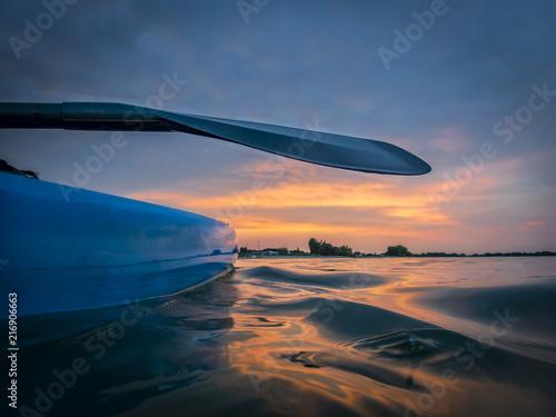 Fotografia, Obraz  Stand up paddleboard at sunset