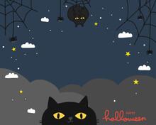 Halloween Black Cat Night Sky ...