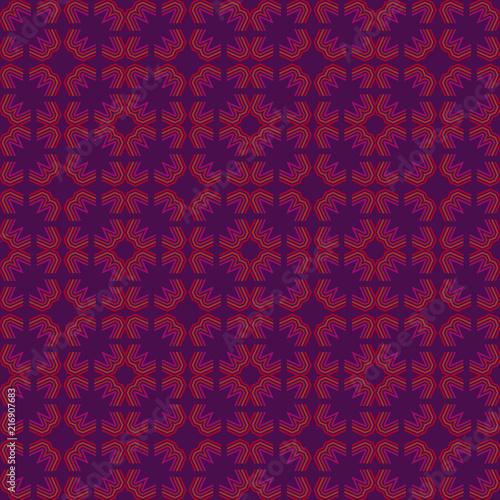 Vibrant geometric seamless pattern