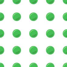 Green Dot Seamless Pattern Background