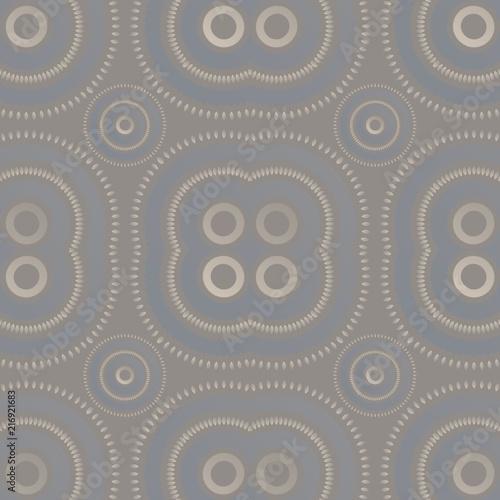 Láminas  Vibrant futuristic asian feel seamless pattern