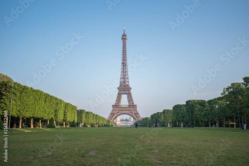 Eiffel Tower from Champ de Mars Wallpaper Mural