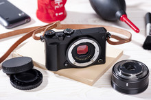Mirrorless Camera With Leather...