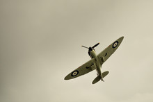 Spitfire Doing A Manoeuvre