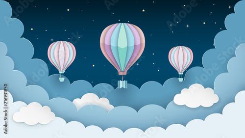 balony-na-gorace-powietrze-gwiazdy-i-chmury