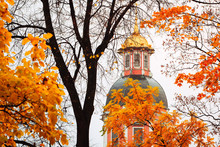 Golden Dome Of A Russian Churc...