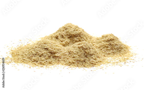 Wheat germ pile isolated on white background