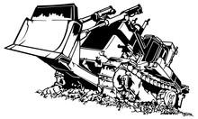 Black And White Bulldozer - Dr...