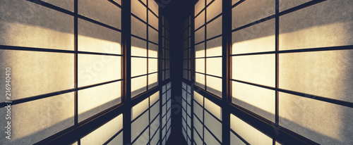 Wall Pattern details Architecture abstract perspective Japan traditional door Fototapeta