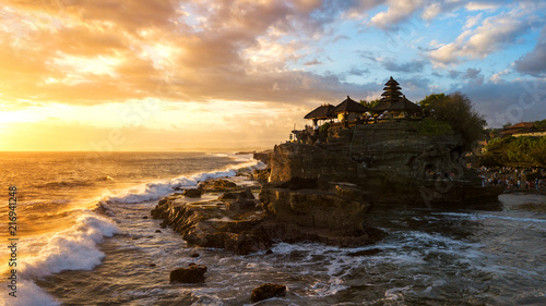 Deurstickers Bedehuis Tanah Lot in sunrise colors,the most famous temple at Bali island,Indonesia