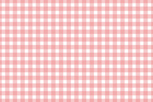 Plaid, Check Pattern Pink And White. Simple Background