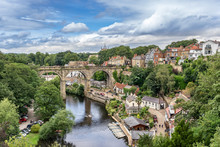 Looking Down The River Nidd To The Resort Of Knaresborough In Yorkshire